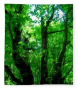 Up Through The Trees Fleece Blanket