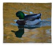 Upon Sunset Waters Fleece Blanket
