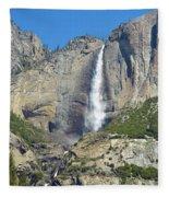 Upper And Lower Yosemite Falls Fleece Blanket