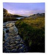 Upper Blue Sunrise Fleece Blanket
