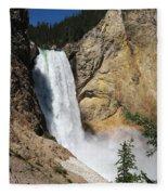 Upper Falls Yellowstone National Park Fleece Blanket