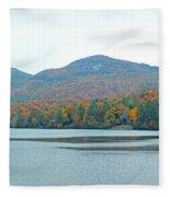 Upper Lake Toxaway In The Fall 2 Fleece Blanket