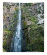 Upper Multnomah Falls Fleece Blanket