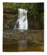 Upper North Silver Falls 2 Fleece Blanket