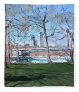 Upper Rapids Of Niagara Falls Ny Fleece Blanket