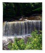 Upper Tahquamenon Falls Fleece Blanket