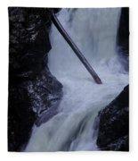 Upper Twin Falls Close Fleece Blanket