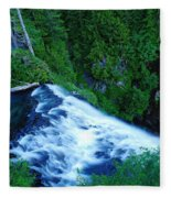 Upper View Of Narada Falls Fleece Blanket