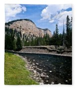 Upriver In Washake Wilderness Fleece Blanket
