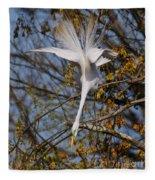 Upside Down Egret Fleece Blanket