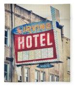 Chicago's Irving Hotel Fleece Blanket