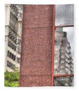 Urban Abstract Downtown Reflections Dayton Ohio Fleece Blanket