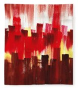 Urban Abstract Evening Lights Fleece Blanket