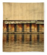 Urban Abstract River Reflections Fleece Blanket