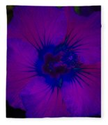 Urban Art Hibiscus II Fleece Blanket