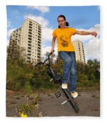 Urban Bmx Flatland With Monika Hinz Fleece Blanket
