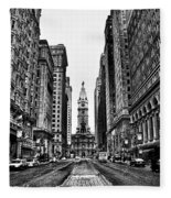 Urban Canyon - Philadelphia City Hall Fleece Blanket