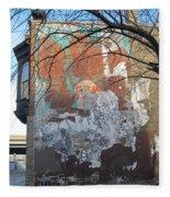 Urban Decay Mural Wall 4 Fleece Blanket
