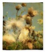 Urban Flowers Fleece Blanket