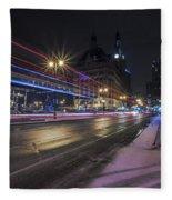 Urban Holiday  Fleece Blanket