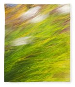 Urban Nature Fall Grass Abstract Fleece Blanket