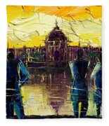 Urban Story - Hotel-dieu De Lyon Fleece Blanket