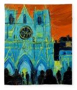 Urban Story - The Festival Of Lights In Lyon Fleece Blanket