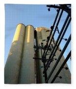 Urban Towers And Poles Fleece Blanket