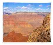 Us, Arizona, Grand Canyon, View Fleece Blanket