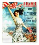 Fight Or Buy Bonds Fleece Blanket