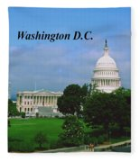 U.s. Capitol Fleece Blanket