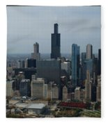 Us Cellular And Wrigley Field Chicago Baseball Parks 3 Panel Composite 02 Fleece Blanket