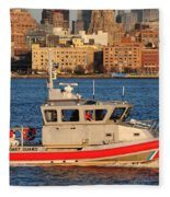 U.s. Coast Guard - Always Ready Fleece Blanket