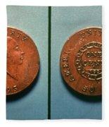 U.s. Coin, 1793 Fleece Blanket