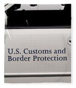U.s. Customs And Border Protection Fleece Blanket