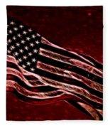 Us Flag Fleece Blanket