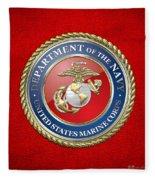 U. S. Marine Corps - U S M C Seal  Fleece Blanket