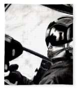 U.s. Marines Helicopter Pilot Fleece Blanket