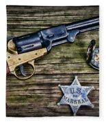 Us Marshall - American Justice - Cowboy Fleece Blanket
