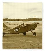 U.s. Military Recon Single Engine Plane Fleece Blanket