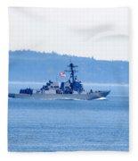 U.s. Navy Ship Fleece Blanket