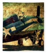 Us Ww II Grumman F4f Wildcat Fighter Plane Fleece Blanket
