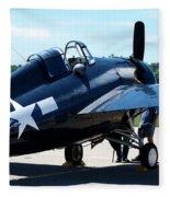Us Ww II Fighter Plane Fleece Blanket