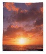 Usa, California, Pillar Point, View Fleece Blanket
