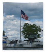 Usa Flag 10 Fleece Blanket
