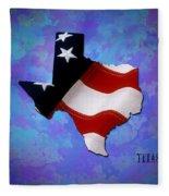 Usa Flagtexas State Digital Artwork Fleece Blanket
