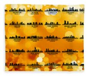 Usa Skylines 3 Fleece Blanket