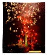 Usa, Washington Dc, Fireworks Fleece Blanket