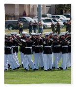 Usmc Silent Drill Platoon Fleece Blanket