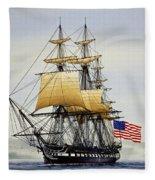 Uss Constitution Fleece Blanket
